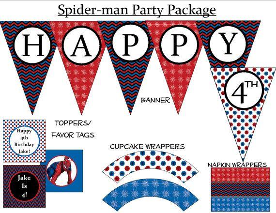 50 off  Spiderman Birthday Party  Printable by ZDesignsbyRosina, $7.50