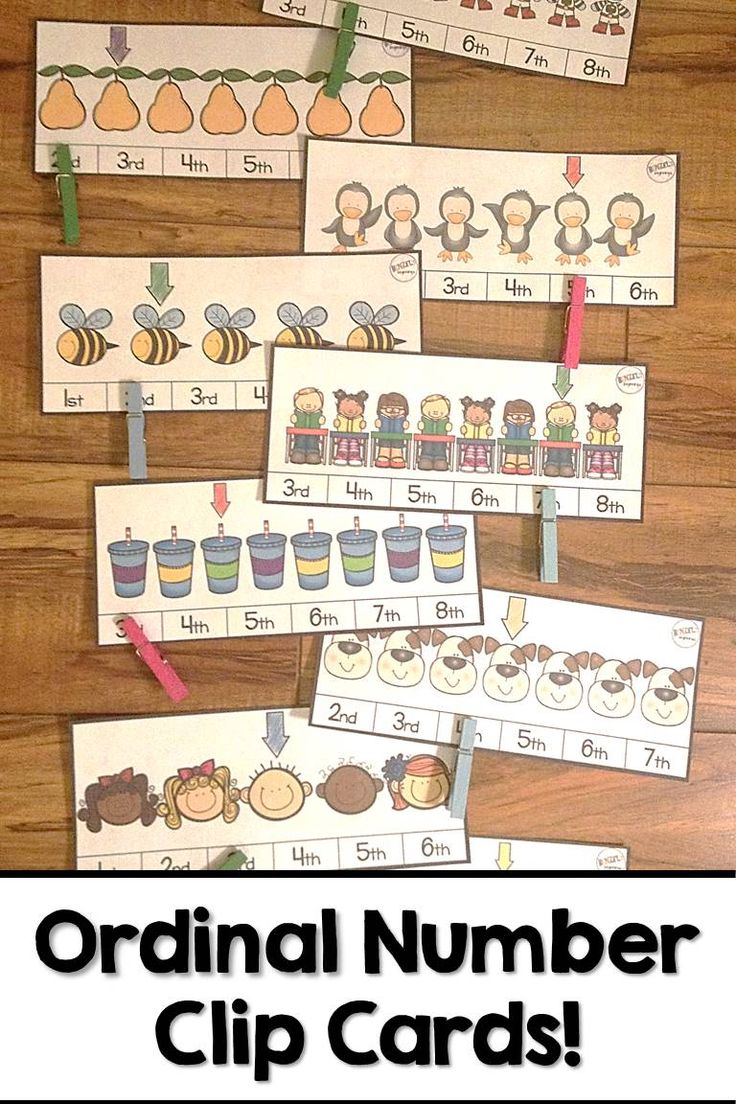 Need a creative, hands-on way to practice identifying ordinal numbers? These 30 clip cards make a GREAT math center!