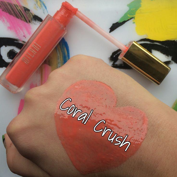 Milani Lip Gloss: Coral Crush #Milani #MilaniLipGloss #Lips #LipSwatch #Swatch #Makeup