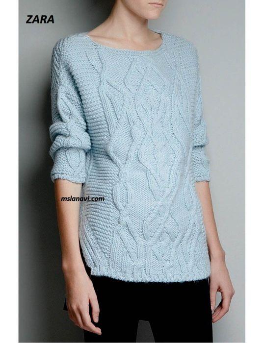 Вязаный-пуловер-ZARA-787x1024 (538x700, 279Kb)