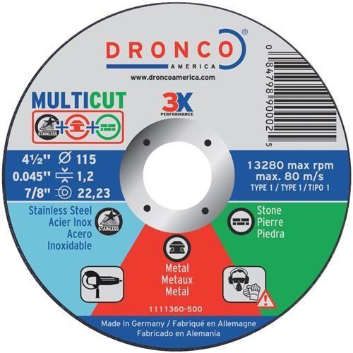 Shop Smith MultiCut Cut-Off Wheel, Silver