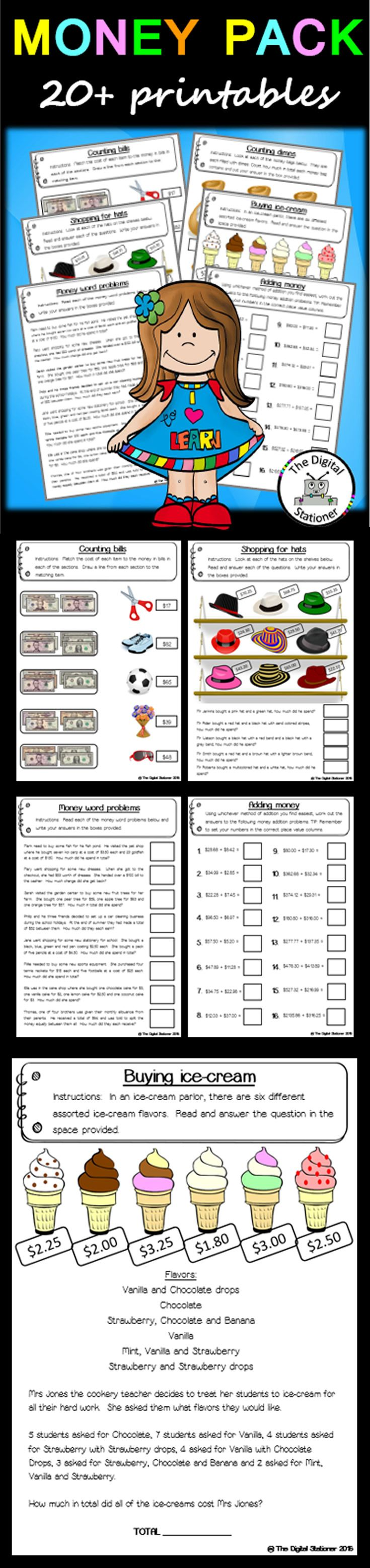 worksheet Practical Money Skills Worksheets 1000 ideas about money activities on pinterest teaching 2 problems 20 worksheets printables maths resources