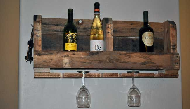 How to Make a simple Pallet Wine Rack for free!