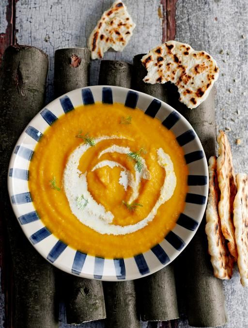 Roast carrot & fennel soup | Jamie Oliver | Food | Jamie Oliver (UK) I will adapt this soup to Thermie... and add Fennel seeds to my Miracle Flatbread!