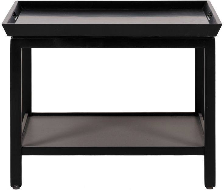 Neptune Living Occasional Tables - Aldwych Low Side Table - Warm Black