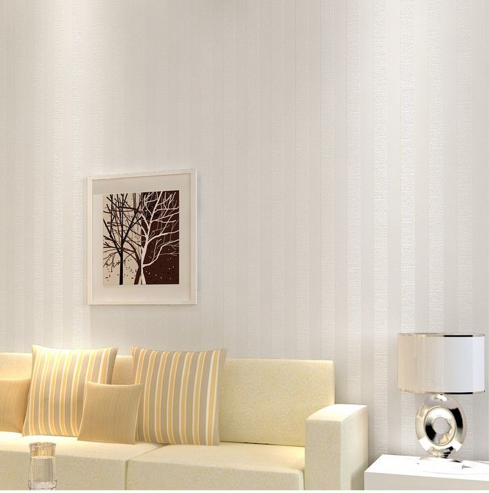 Glossy White Vertical Stripes Background Wallpaper Vinyl Wall Roll Paper Back Backdrops For Office Gray Brown Decoration $44.85