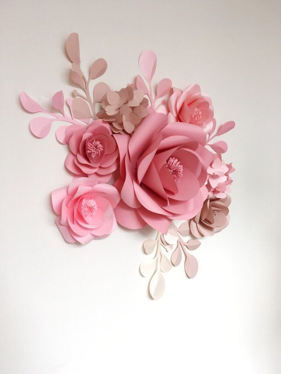 Paper Flowers Giant Paper Flowers Wedding Paper by MioGallery