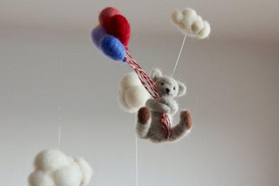 Teddy Bear Mobile baby mobiel kwekerij de mobiele naald