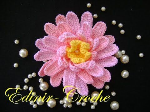 FLORES EM CROCHE 100 AULAS NO YOUTUBE - APRENDER CROCHE, My Crafts and DIY Projects