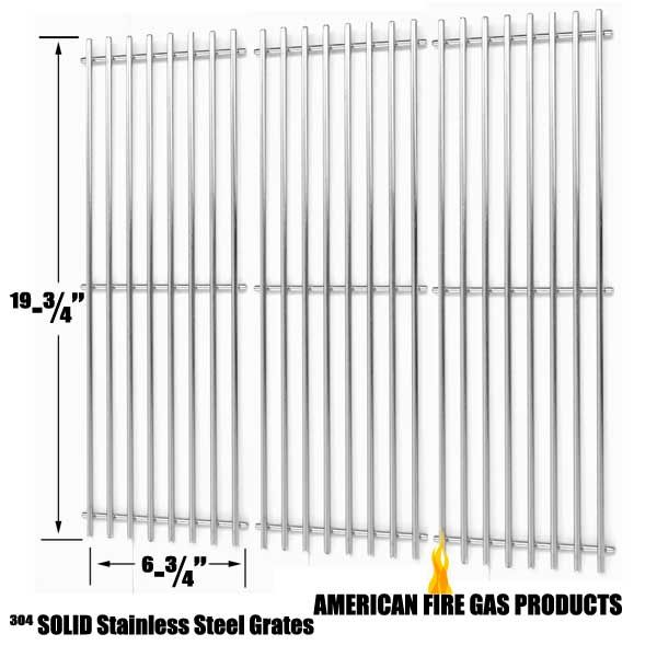 REPLACEMENT 3 PACK STAINLESS STEEL COOKING GRID FOR KING GRILLER, CHAR-GRILLER GAS GRILL MODELS Fits Compatible King Griller Models : 3008, 5252