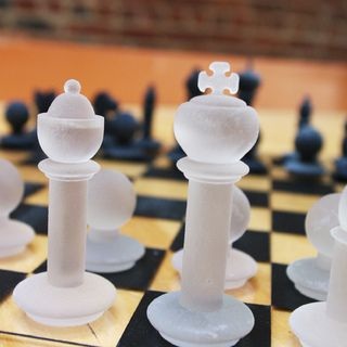3D Printed Chess Piece Models - love the opacity!