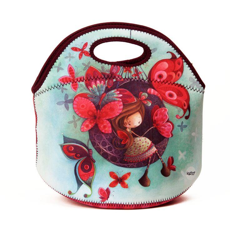 Une boîte à lunch aussi mignonne & colorée que pratique // Boîte à Lunch Mignonette Fannie KETTO Lunch Bag Sweet Fannie // Sans isolant à l'intérieur. Fermeture éclair. Se lave à la machine. // Without thermal insulation. Zipper closure. Machine washable. // #BoîteÀLunch #Lunchboxe #Ketto