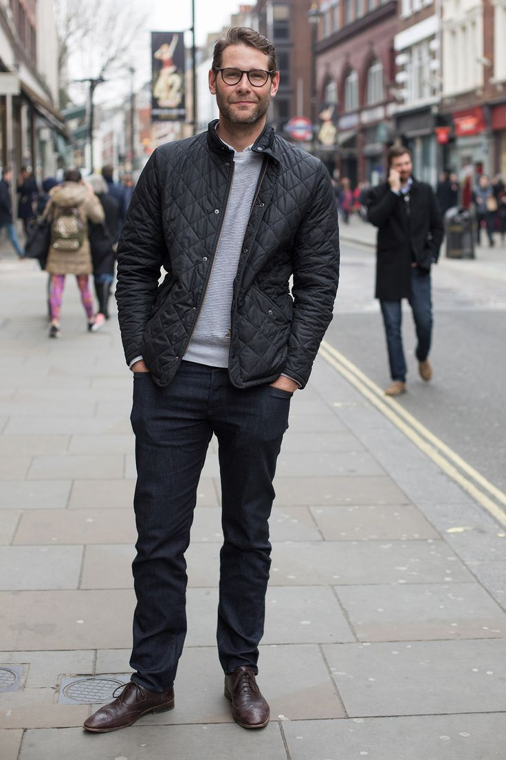 barbourpeople:    We bumped into Alan around Covent Garden - wearing his Barbour Quilted Jacket!