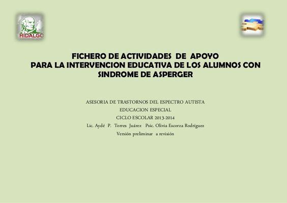 FICHERO DE Actividades  (ASPERGER ):
