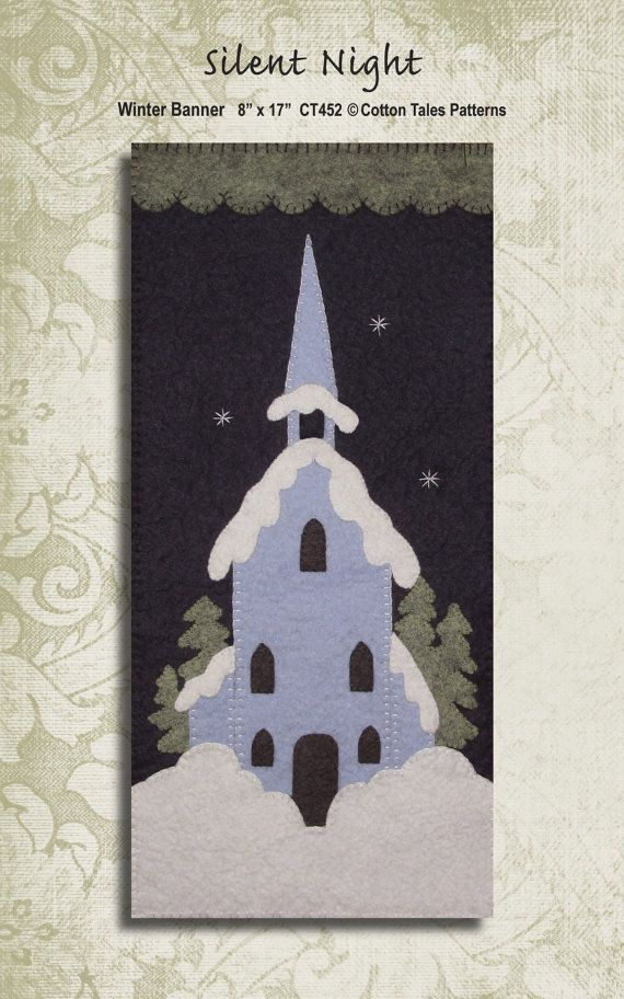 Silent Night Winter Banner Pattern by honeyncloves on Etsy