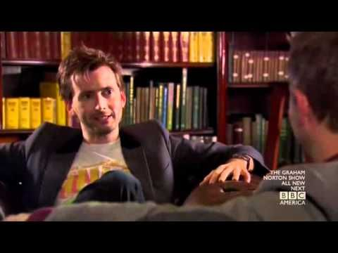 I highly recommend the one hour long version of this interview on podcast : http://www.nerdist.com/2011/12/nerdist-podcast-153-david-tennant/ . That is much funnier than this short version, but its still nice to see DT on TV ;-)