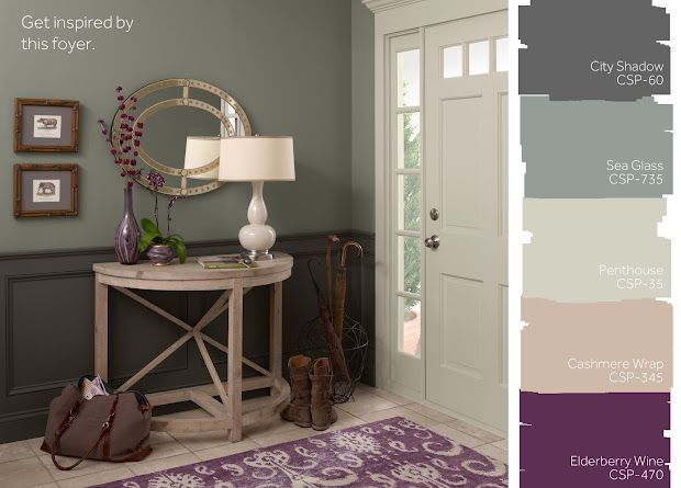 Benjamin moore city shadow sea glass penthouse for Great kitchen wall colors