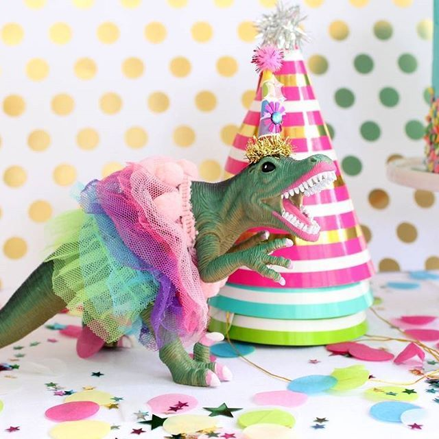 I Just Love A Girly Dino Party Tutu Trex Decoration And Cake Topper Every Girls Dinosaur Need This Doll By Pain
