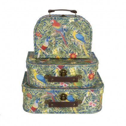 Set 3 valises - Perroquets