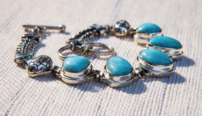 Avazera Angelic Collection -925 Sterling Silver, Larimar Bracelet