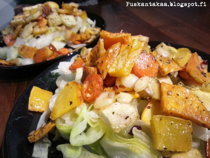 Jumalainen lämmin juuressalaatti • Heavenly warm root vegetable salad