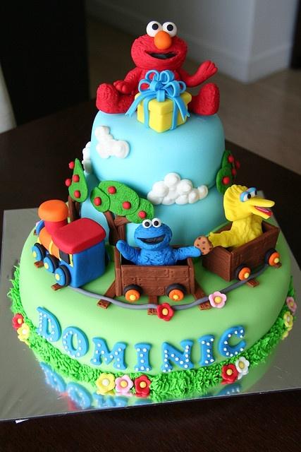Elmo and friends cake: