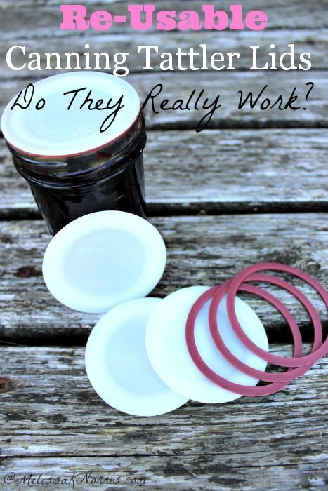 Re-Usable Tattler Canning Lids- Do they really work? Great review on using Tattler canning lids and what to expect. I'd love to be able reuse canning lids!