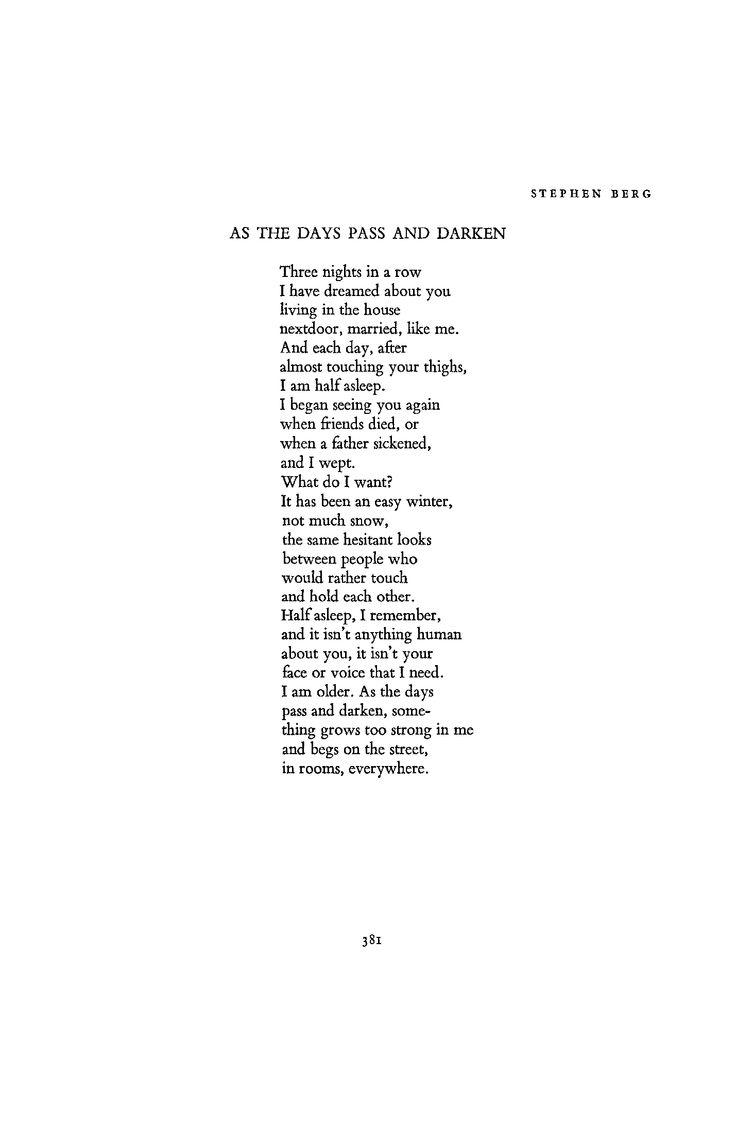 Stephen Berg   March 1970 : Poetry Magazine