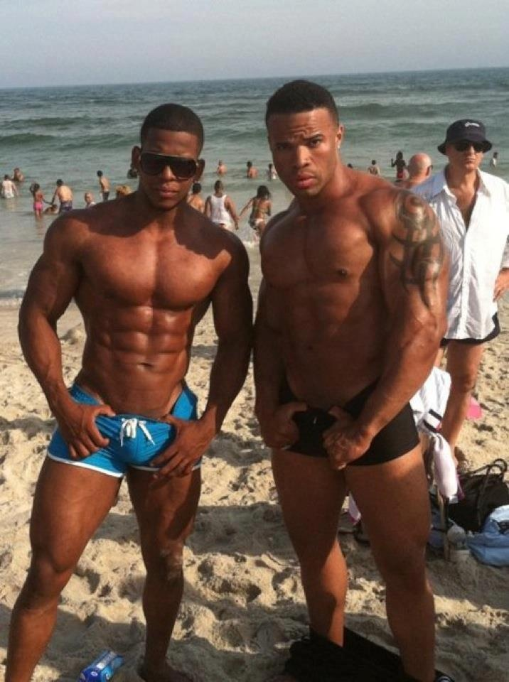 Black hunks with big bulges