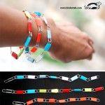 Armbanden gemaakt met paperclips en papier. Paperclip bracelets - Krokotak.com