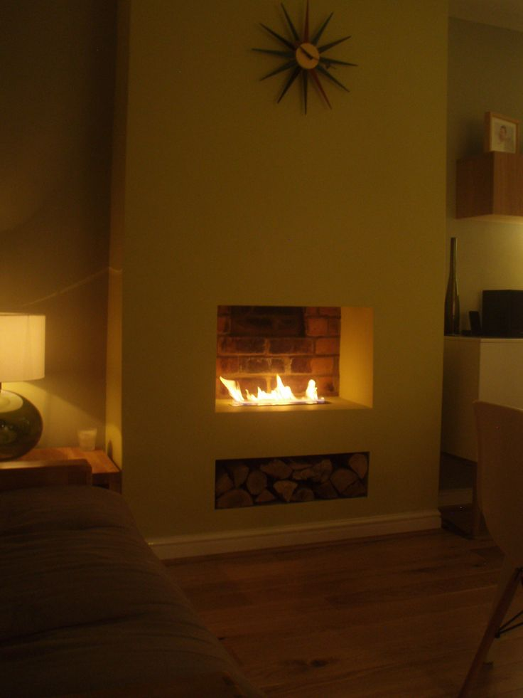 old fireplace makeover for bio ethanol one
