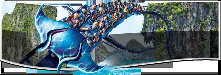 "Manta Double Launch Roller Coaster | SeaWorld San Diego >> What could be Kraftwerk Living Technologies' contribution to a rollercoaster? In this case it is the so-called ""launch station"" where the passengers will start the ride enclosed in a launch tunnel with larger-than-life images of rays projected on a 270-degree enveloping screen."