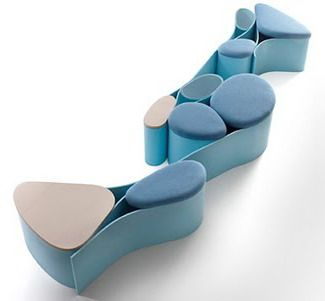 FUTURISTIC FURNITURE | Neverending Seating by Luca Nichetto, futuristic furniture / Unificação | www.bocadolobo.com/ #luxuryfurniture #designfurniture