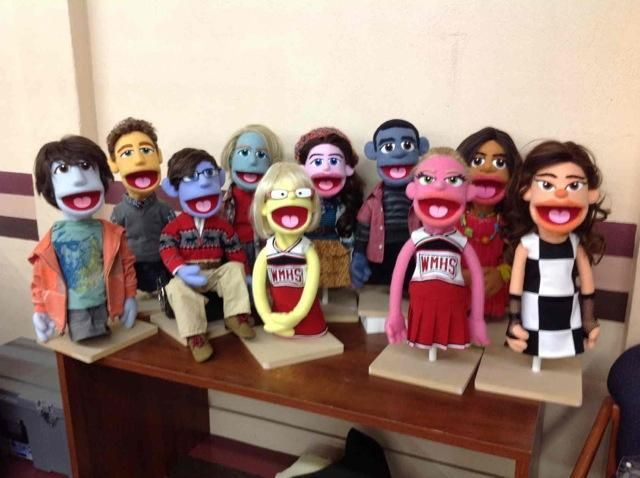 Glee Season 5 Spoilers: See the Cast as Puppets — With Still-Human Blaine!