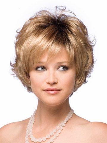 安いnew女性2015synthetcinone毛自然なかつらカーリーエレガントなレースのかつらはふわふわパーマ短い髪色のベストセラーの髪型、購入品質総合的なかつら、直接中国のサプライヤーから:ホットをお勧めし モデルショー