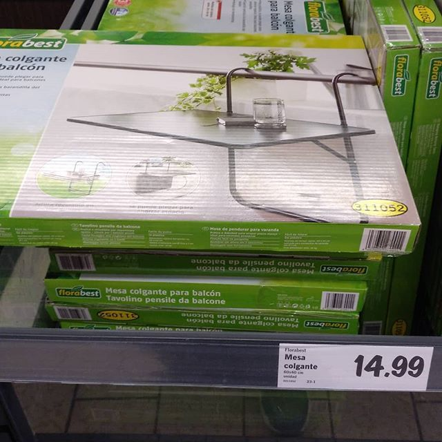 Useful Item Of The Week Lidl Balcony Table Ideal For Tea Laptop Or Sorting Out Yourr Plants