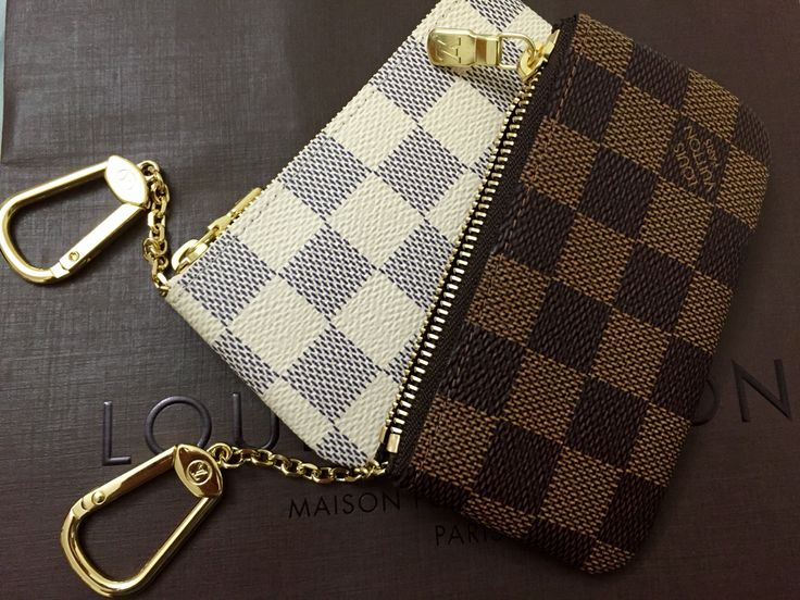 Louis Vuitton Damier Azur and Damier Ebene Cles (Key Pouch)