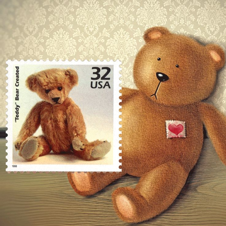 "Who doesn't love ""Teddy Bears"" - set them  as your computers wallpaper image. See this and the many other stamp fun wallpapers available from the American Philatelic Society (www.stamps.org)"