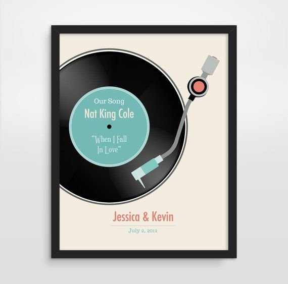 First Anniversary Present Part - 41: First Anniversary Gift, Personalized Wedding Gift, Wedding Song, Paper  Anniversary On Etsy,