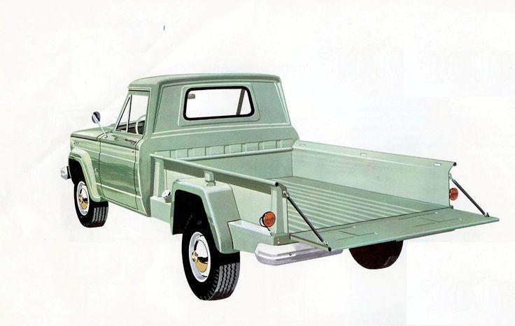 1962 Gladiator 'stepside'… Jeep truck brochure illustration