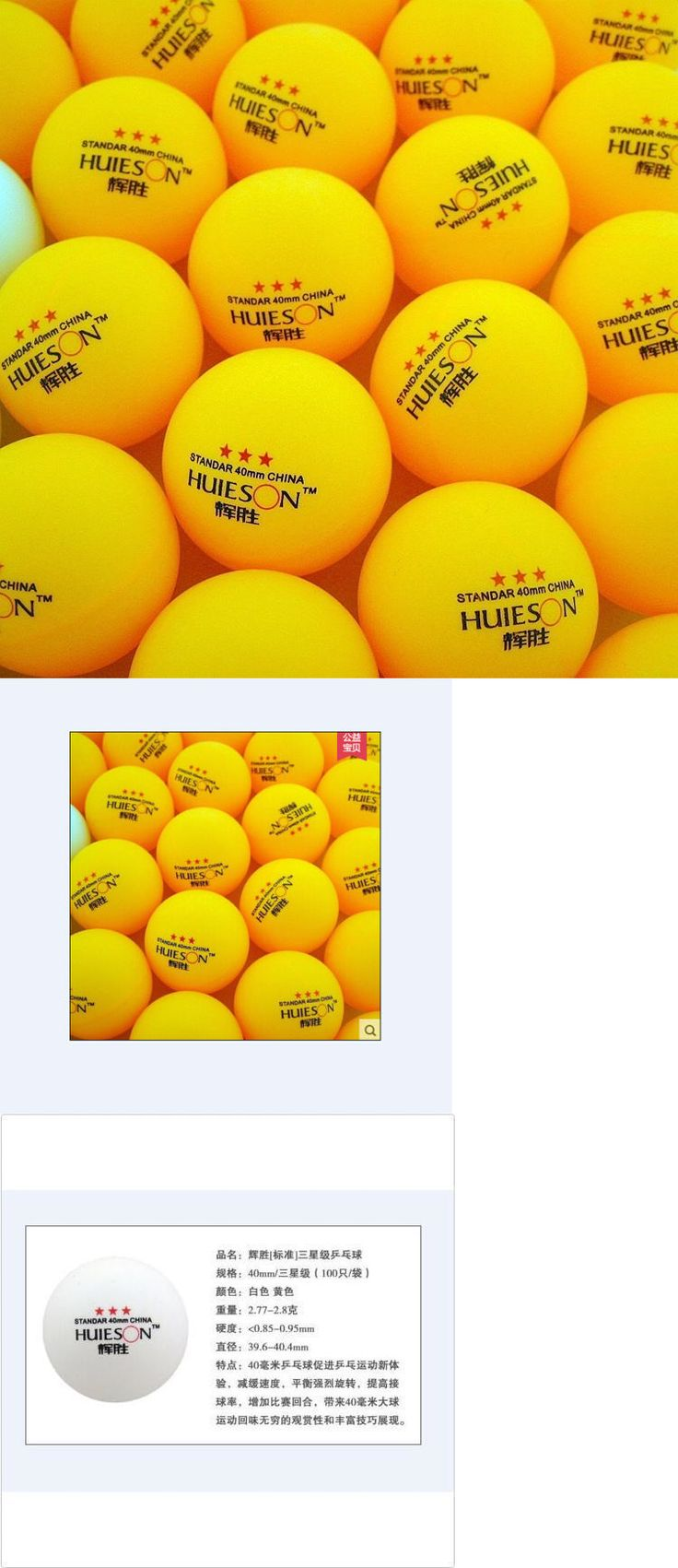 Balls 97073: New 500Pcs 3-Stars 40Mm Olympic Table Tennis Balls Pingpong Balls Orange Huieson -> BUY IT NOW ONLY: $90 on eBay!
