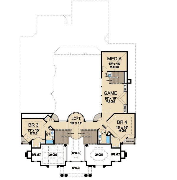 Plan 36186TX: Luxury with Central Courtyard