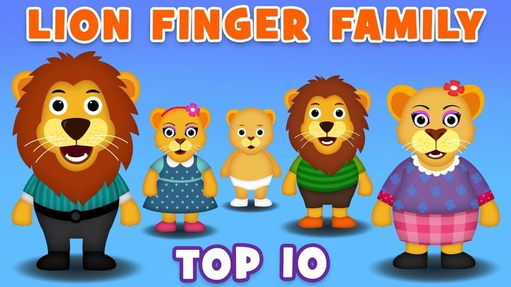 Lion Finger Family Collection | Top 10 Finger Family Song | Nursery Rhym...