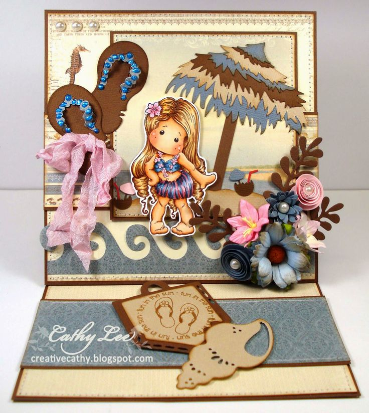 Cathy's Creative Place: Midway Reminder Midweek Magnolias - Easel Card