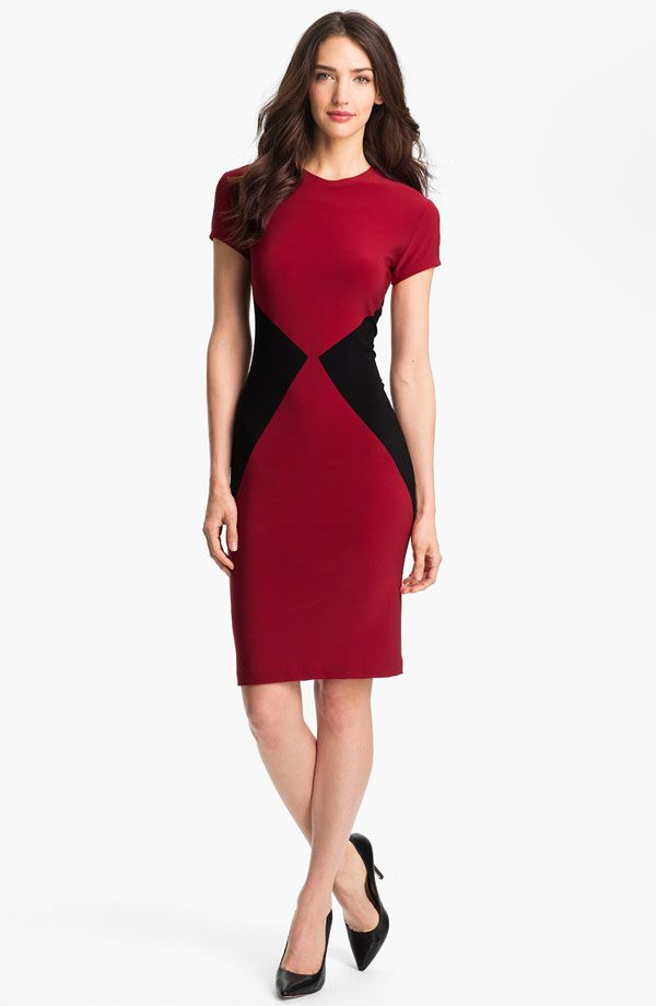 Be the lady in red with this color blocked sheath dress by KAMALIKULTURE. The colors distract the eye and hug you in all the right places. $99, Nordstrom    - Cosmopolitan.com