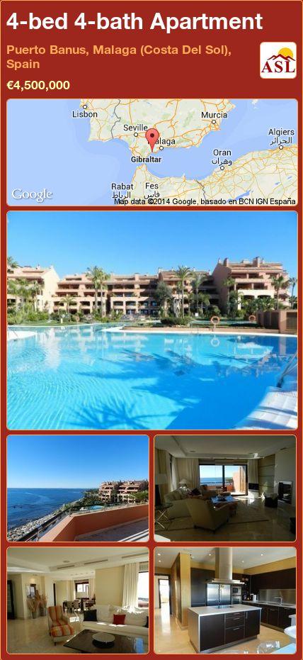 4-bed 4-bath Apartment in Puerto Banus, Malaga (Costa Del Sol), Spain ►€4,500,000 #PropertyForSaleInSpain