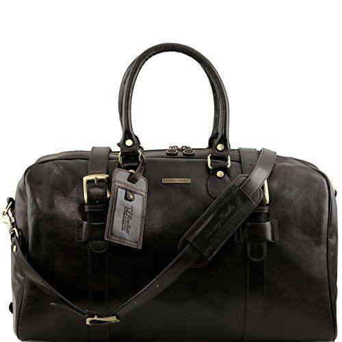 Tuscany Leather - TL Voyager - Sac de voyage en cuir avec poches aux côtés - Grand modèle Marron foncé - TL141281/5 JvOcRsLh