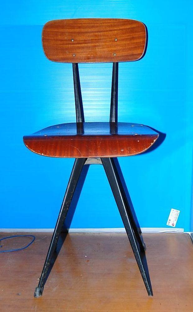 Sedia gambe a spillo anni 60  Vintage/Jean Prouvé ?