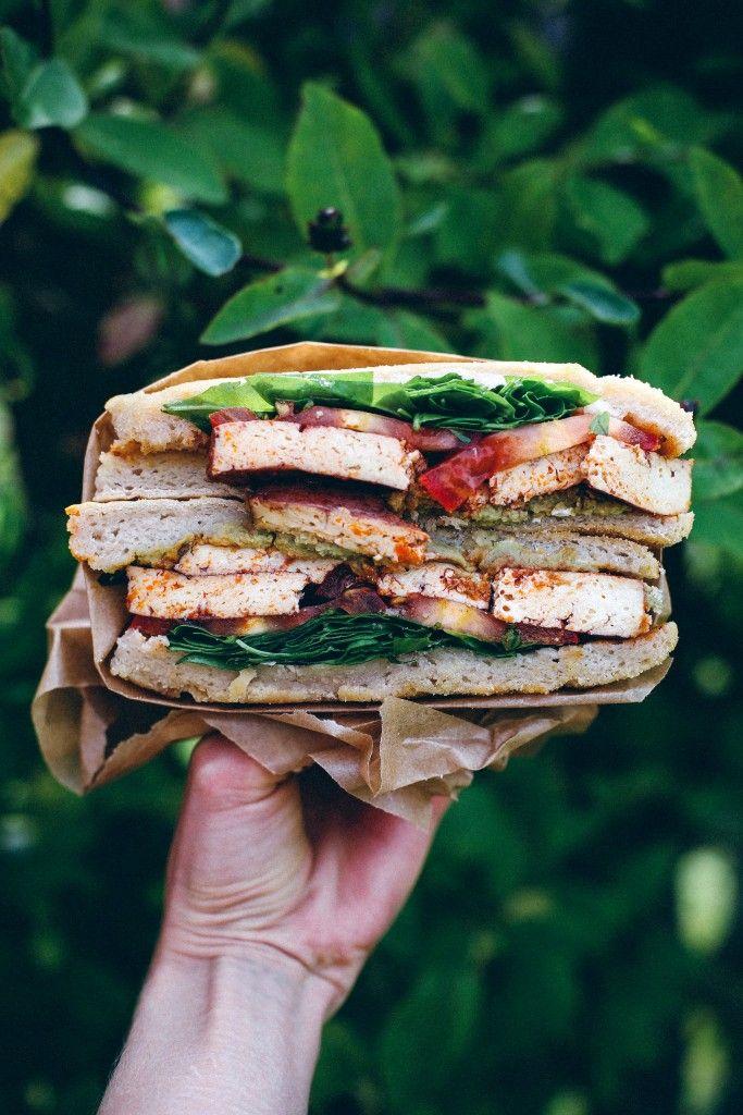 Spinach Tofu Veggie Vegan Sandwich