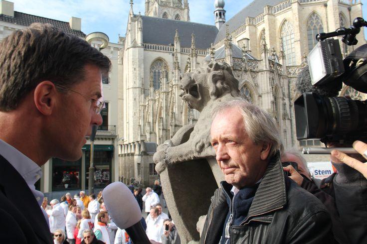 Mark Rutte wordt geïnterviewd door Jos Heymans van RTL Nieuws